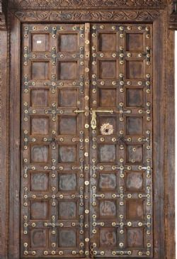 19th century haveli door with surround, rajasthan <b>sold<b>